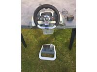 Xbox 360 Force Feedback Steering Wheel