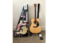 Fender acoustic guitar new condition with extras