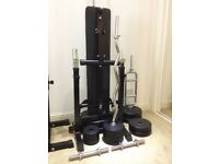 BRAND NEW Gorilla Sports Weight Bench with 100KG Vinyl Complete Weight Set PLUS EXTRAS
