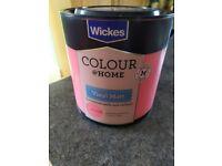 Wickes Pink Prowess vinyl matt paint - 2.Litre tin NEW