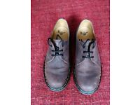 """Dr Martens Size 7 - Brown leather """"Crazy Horse"""" style 1461"""