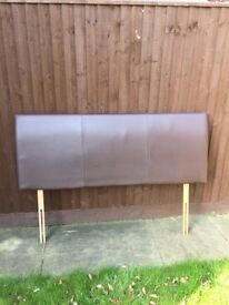 Brown Faux Leather king size headboard