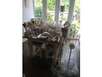 Wedding whole top table and table decorations including the description below