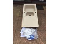 Brand New kitchen sink with half bowl and drainer