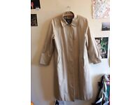 vintage 80s beige burberry prorsum overcoat/light trench coat
