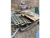 Free fire kindling- 12 old fence panels