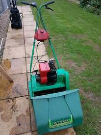 Qualcast petrol lawnmower with Eurostar caset