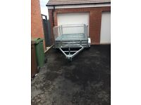7x5 Paxton caged mesh trailer