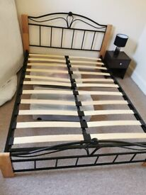 Small double bed with or without mattress - £60 for the pair upon quick collection