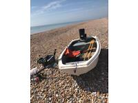 REGULAR FISHING BOAT & ENGINE & ANCHOR OARS & FISHING RODS