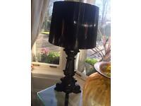 Kartel Bougie designer black vinyl table lamp genuine