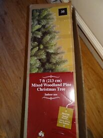7ft Mixed Woodland Pine Christmas Tree