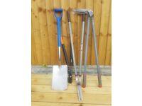 Garden tools gardening cutters spade tree