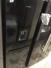 New Graded Tall Hisense Fridge Freezer in black only £199