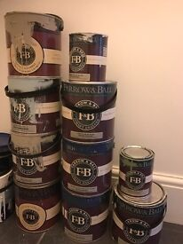 Farrow and Ball paint - estate emulsion and eggshell in selection of colours