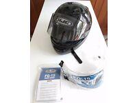 HJC FG-15 XL 62cm black motorbike helmet, good condition, spare visor