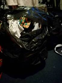Four bags of clothes