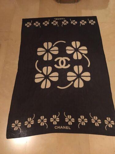 Chanel pareo foulard etole coton authentique - tres bon etat 150x100