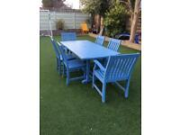 Big garden table and 6 chairs