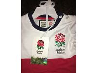 Official England rugby shirt and shorts