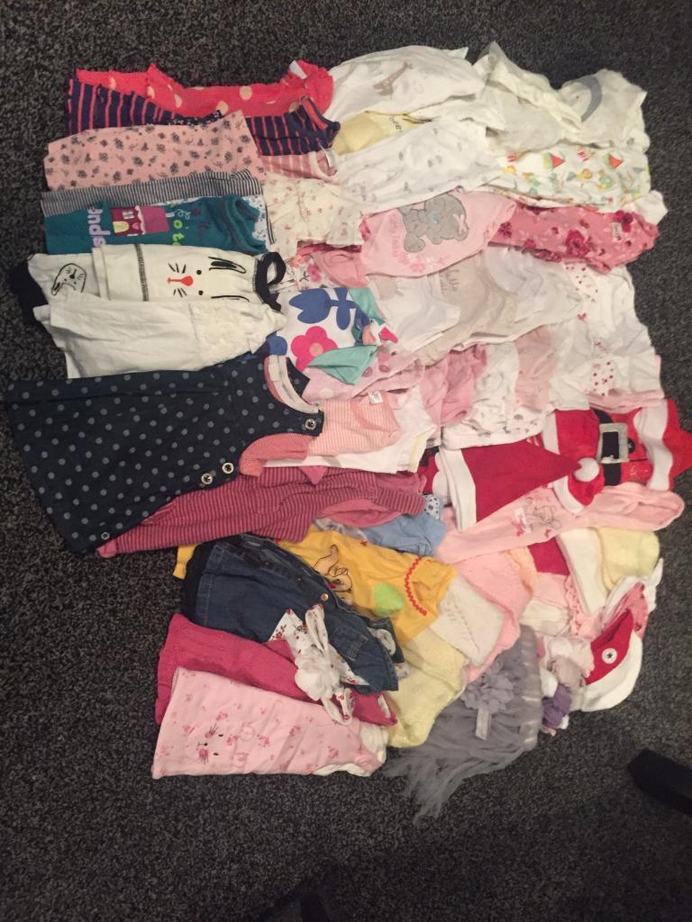 2e857e976 85 piece baby girls bundle newborn first size 0-3 months