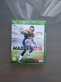 BRAND NEW SEALED MADDEN NFL 15 ON XBOX ONE