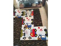 Rug for Child. 150cm x 150cm. Car and truck design