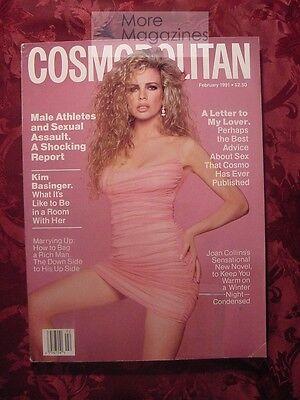 Cosmoppolitan February 1991 Kim Basinger Anthony Hopkins Lena Olin