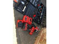 SNAP-ON GUN AND SPARE BATTERY N CHARGER AND LOADS OF TOOLS