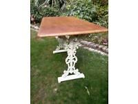 cast iron ornate table