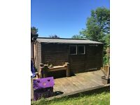 14ft x 10ft solid wood garden shed