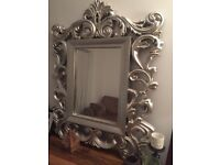 ****Beautiful Silver lightweight Mirror for Sale (looks like it weighs a ton)