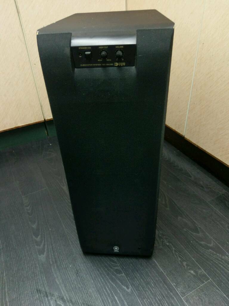 Yamaha Yst Sw160 Powered Subwoofer Stereo Home Cinema Bass