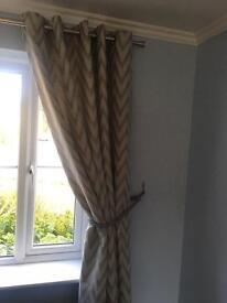 Chrome curtain poles x2