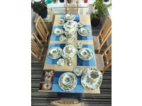 Mason's Ironstone China - Green Strathmore. Beautiful classic dining set in excellent condition.