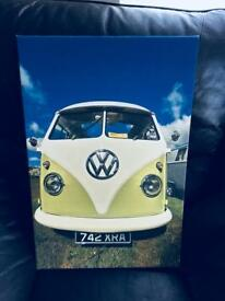 VW split screen camper canvas photo