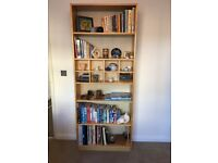 Ikea billy bookcase with smaller display insert 80 w x 28 d x 201.5 h