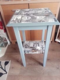 UPCYCLED LAMP TABLE