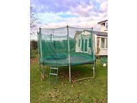 Garden trampoline: 11 feet x 12 feet, octagonal