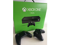 Xbox One 1tb 2 control 4 games ( changing for Ps4 )