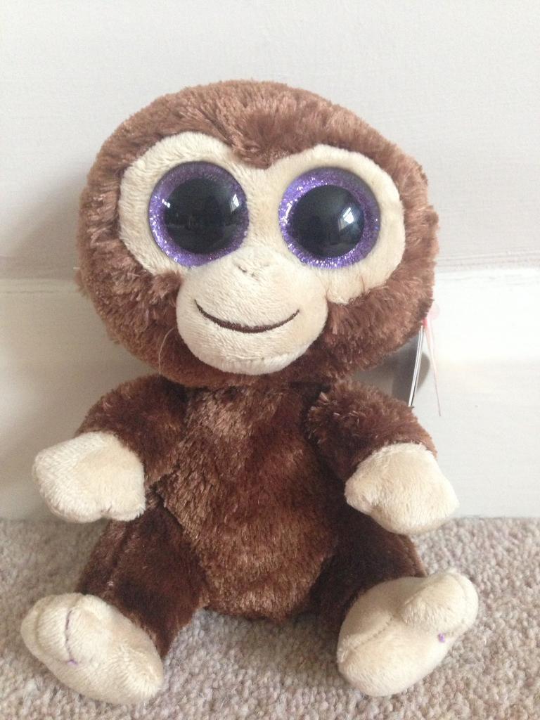 "TY beanie boo 6"" plush Coconut the Monkey"