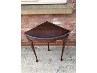 Reproduction mahogany occasional corner table