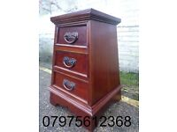 (242) SOLID WOOD CHEST OF DRAWERS, PYRAMID HARDWOOD; STOOL