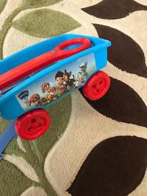 Paw patrol wagon and stationary