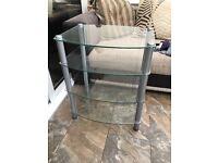 Glass shelved hifi/AV shelves