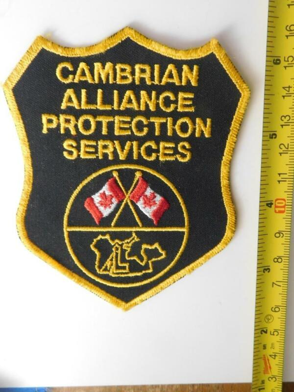 CAMBRIAN PROTECTION SERVICE SECURITY OFFICER VINTAGE PATCH BADGE CANADA POLICE