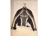 RK SPORTS TEXTILE JACKET GREY/BLK SIZE S 36 CHEST (127)