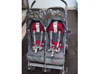 MACLAREN Techno Double Buggy Pram Pushchair Stroller,folding, c/w W/Proof cover £85 Bangor Co.Down