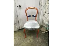 Beautifully restored & hand-painted antique chair