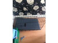 Large 2 door dog cage